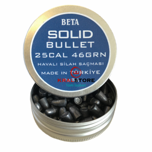 Beta Solid Bullet 46 Grain 6.35mm Havalı Saçma